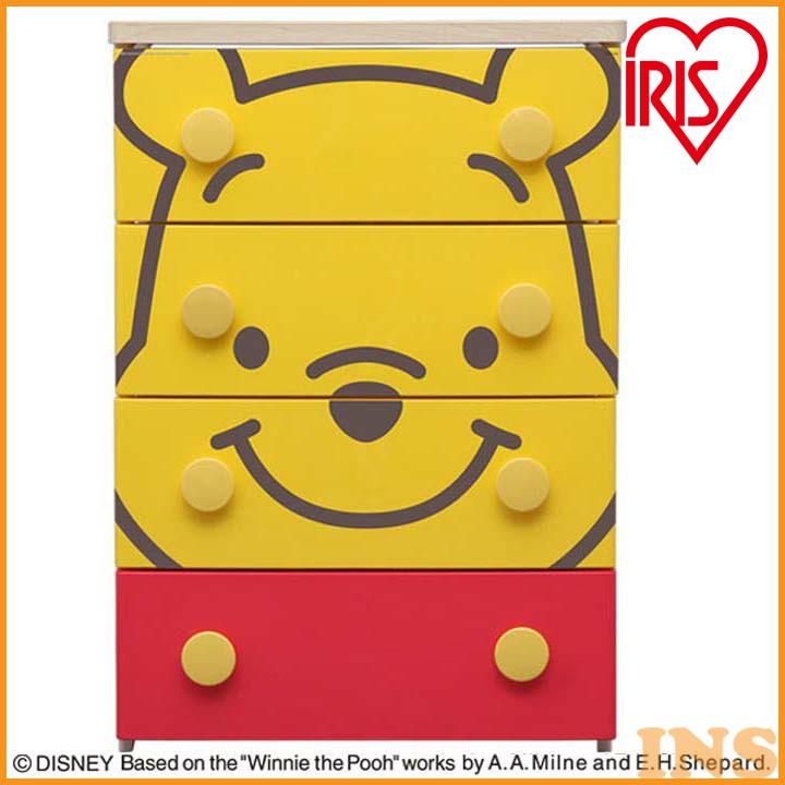 収納ボックス 収納ケース プラスチック 引き出し 送料無料 キャラクターチェスト 4段 プ―さん NHG-W554 アイリスオーヤマ