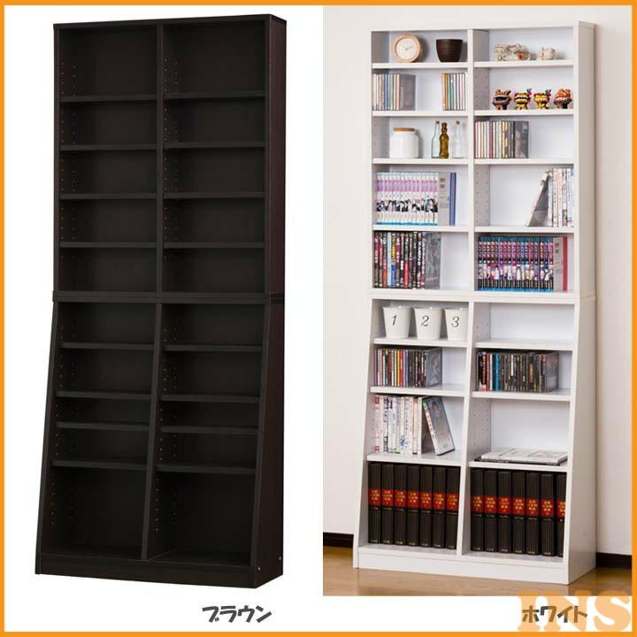 【エントリーでP5倍】≪送料無料≫【TD】SOHO書棚W75 31122【代引不可】【クロシオ】 本棚 本収納 壁面収納 文庫収納 ブックシェルフ スリム 薄型