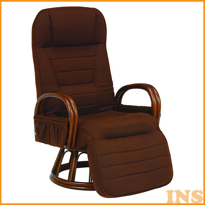 ギア付き回転座椅子 ブラウン RZ-1258BR 送料無料 座椅子 椅子 イス いす 籐製 ラタン おしゃれ 座椅子いす 座椅子おしゃれ 椅子いす いす座椅子 おしゃれ座椅子 いす椅子 萩原 【TD】 【代引不可】