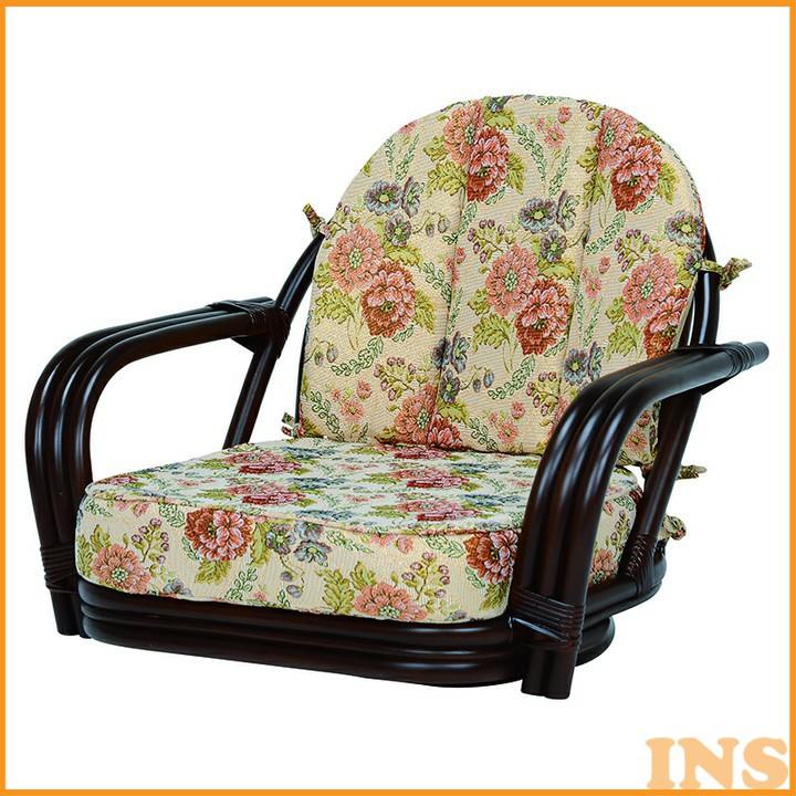 回転座椅子 ダークブラウン RZ-931DBR 送料無料 座椅子 椅子 イス いす 籐製 ラタン おしゃれ 座椅子いす 座椅子おしゃれ 椅子いす いす座椅子 おしゃれ座椅子 いす椅子 萩原 【TD】 【代引不可】