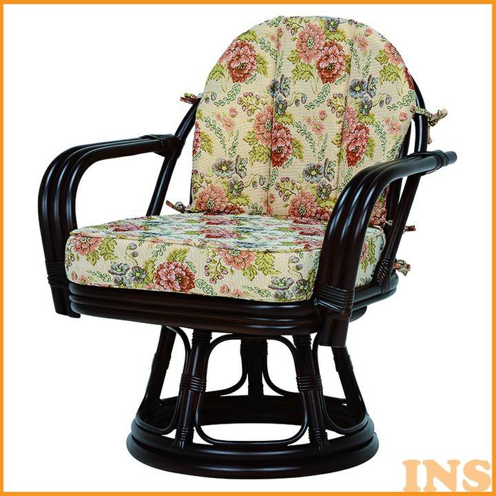 回転座椅子 ダークブラウン RZ-933DBR 送料無料 座椅子 椅子 イス いす 籐製 ラタン おしゃれ 座椅子いす 座椅子おしゃれ 椅子いす いす座椅子 おしゃれ座椅子 いす椅子 萩原 【TD】 【代引不可】