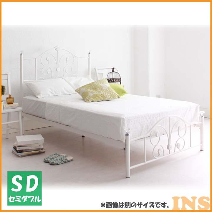 フレンチアイアンベッドSD ホワイト PLC2SDWH 送料無料 ベッド セミダブル 寝室 ベッドルーム 寝具 【TD】 【代引不可】