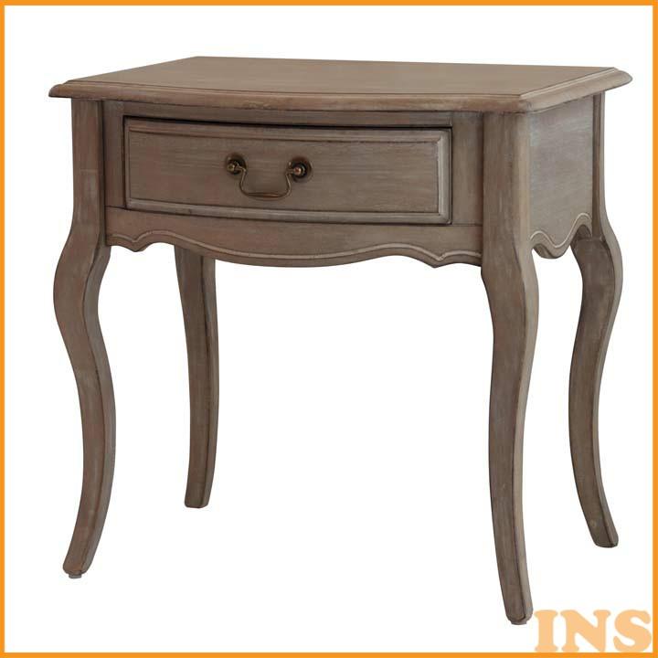 シャビーシックサイドテーブル ホワイト SSLSDTBL 送料無料 テーブル つくえ 家具 おしゃれ 【TD】 【代引不可】