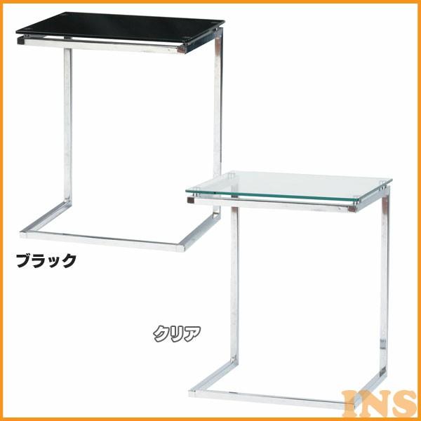 ≪送料無料≫【TD】サイドテーブル PT-15 クリア ブラック【東谷】