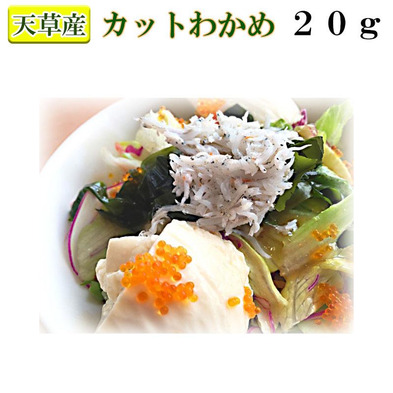日本正規代理店品 天草のワカメをお得にお届けします 天草産カットわかめ20g 4袋までならメール便可能 お手軽乾燥商品 25%OFF 便利なジャストサイズ