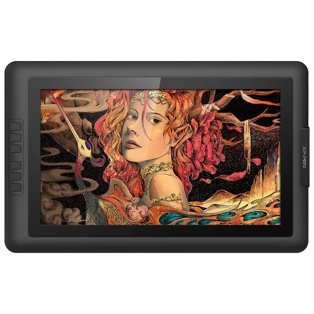 XP-Pen 液タブ 液晶ペンタブレット 15.6インチ バッテリフリースタイラス フルHD 筆圧8192レベル 6個エクスプレキー Artist15.6
