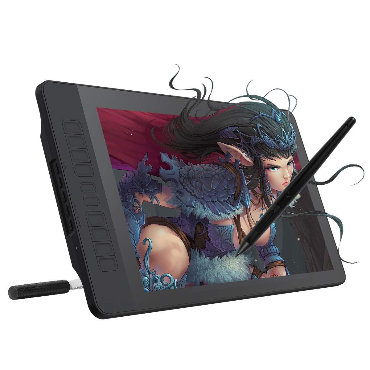 【送料無料】GAOMON 15.6インチIPS HD液晶ペンタブ 10個ショートカットキー 8192筆圧ワイヤレス充電式ペンとスタンド付き ペンディスプレイPD1560