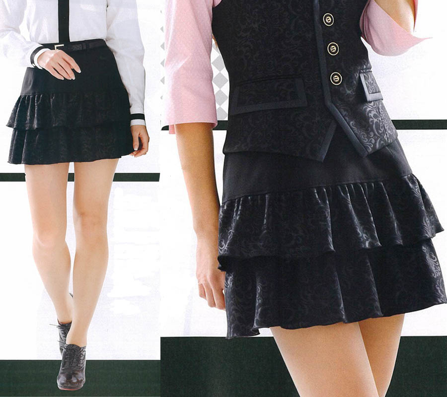 スカート レディースアミューズメント パチンコ店女性用 スカートミステリアスな小悪魔系