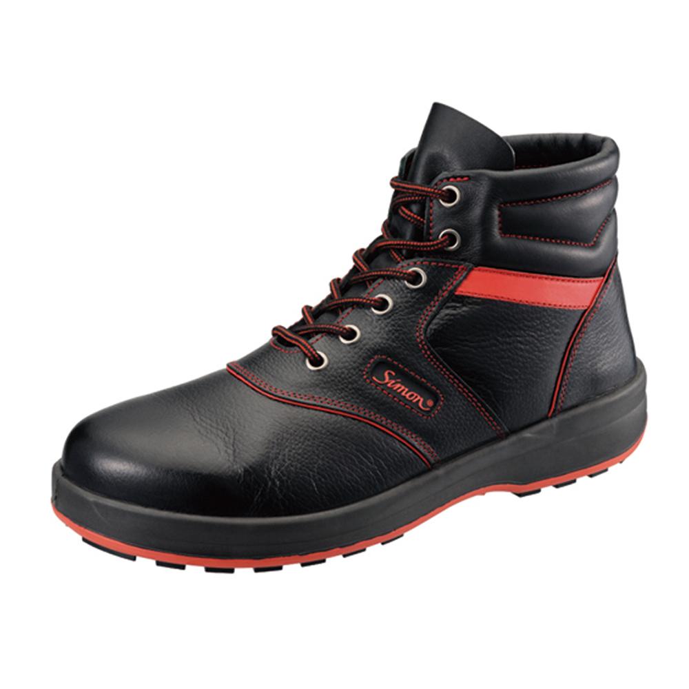 【SL22-R】黒/赤中編上靴【SL22-BL】黒/ブルー中編上靴【SL22-B】黒/茶中編上靴「SX3層底」「最高品質」の安全性能と快適性!