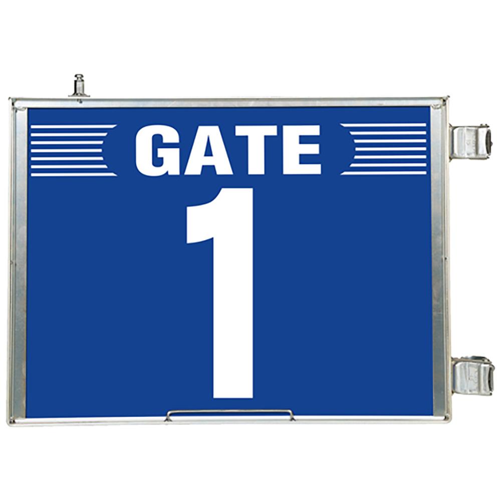 ユニット(UNIT)【305-81】突出し式ゲート標識 GATE1セット