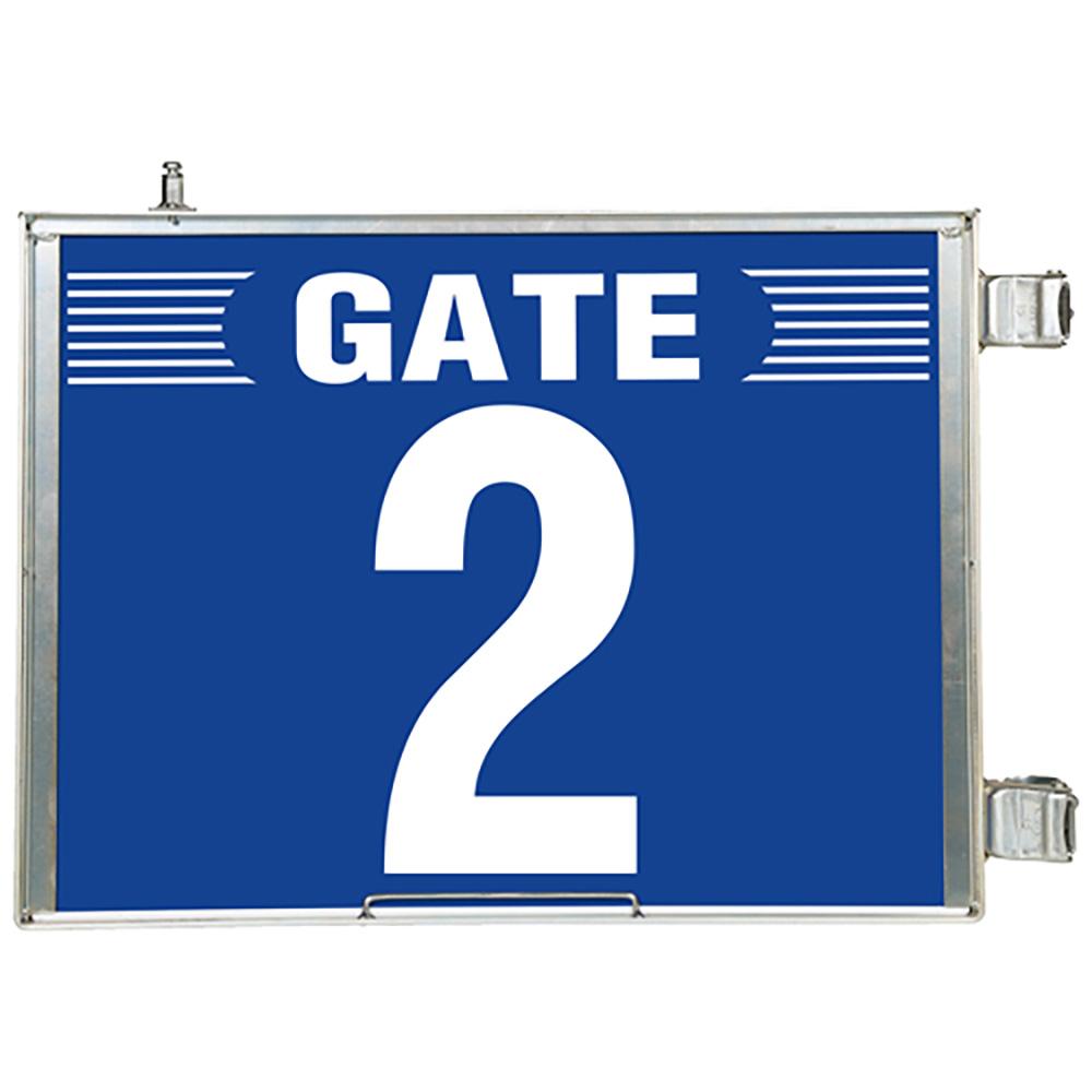 ユニット(UNIT)【305-82】突出し式ゲート標識 GATE2セット
