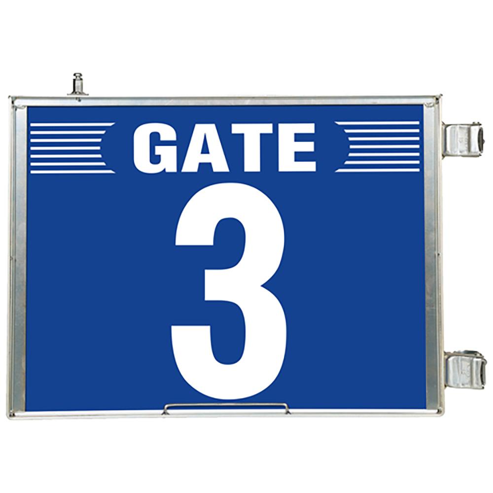 ユニット(UNIT)【305-83】突出し式ゲート標識 GATE3セット