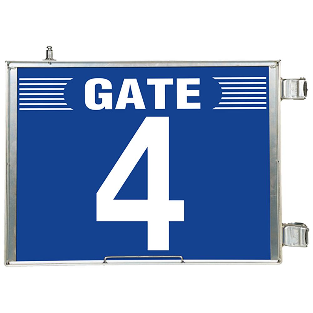 ユニット(UNIT)【305-84】突出し式ゲート標識 GATE4セット