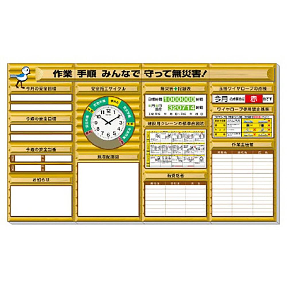 ユニット(UNIT)【313-901}A】◎安全掲示板 (大) ログハウスタイプ