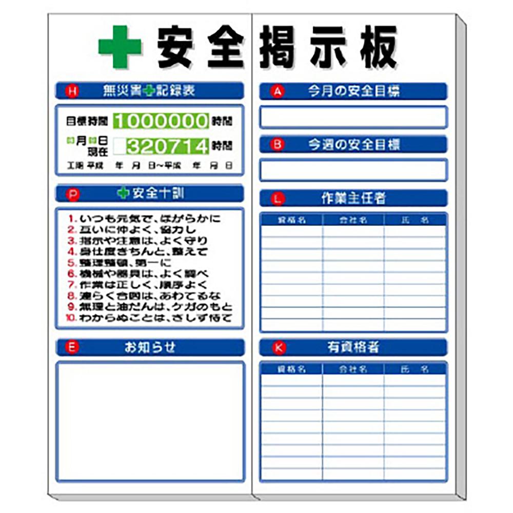 ユニット(UNIT)【313-94A】◎安全掲示板 (小) 標準タイプ