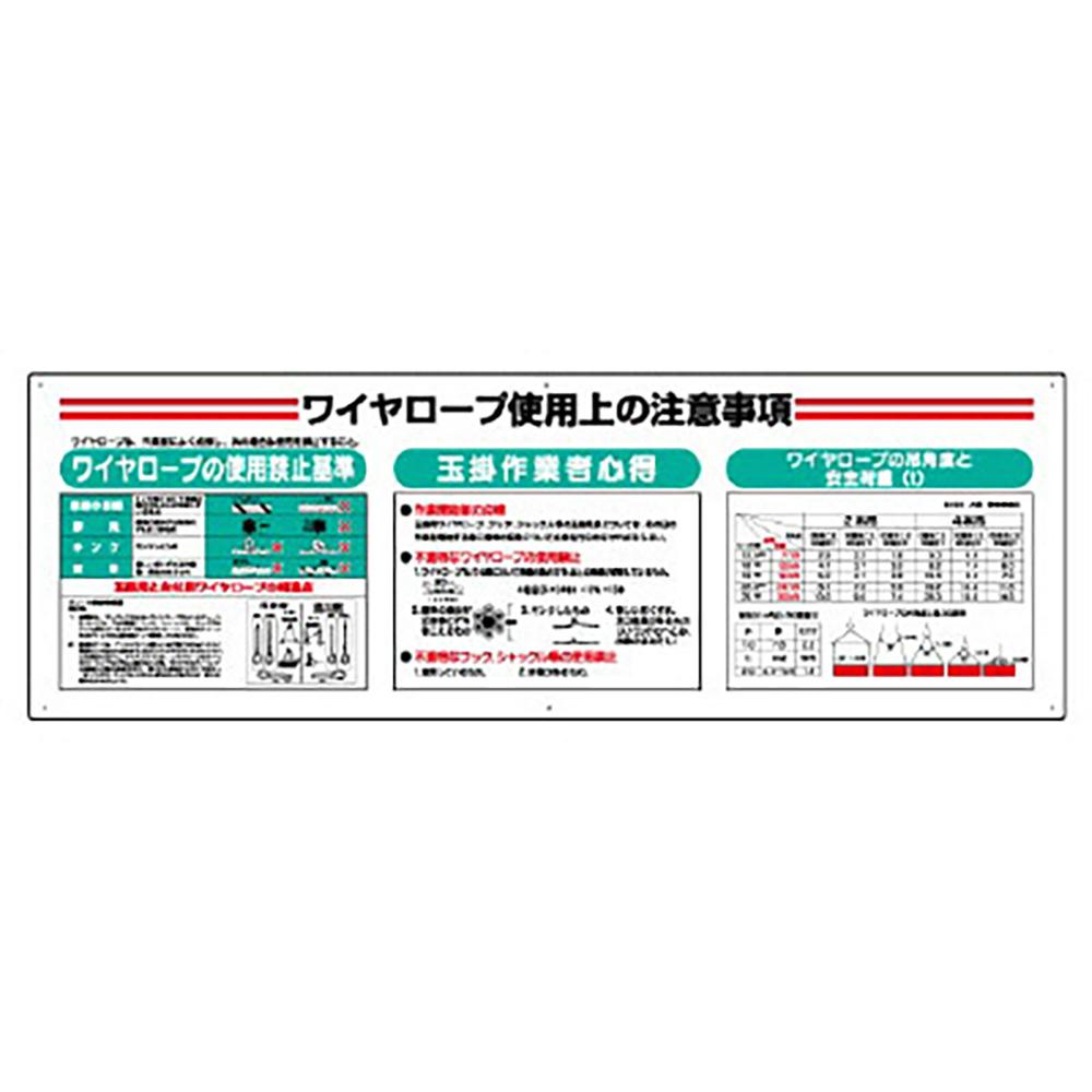 ユニット(UNIT)【331-13A】標識項目セットワイヤーロープ