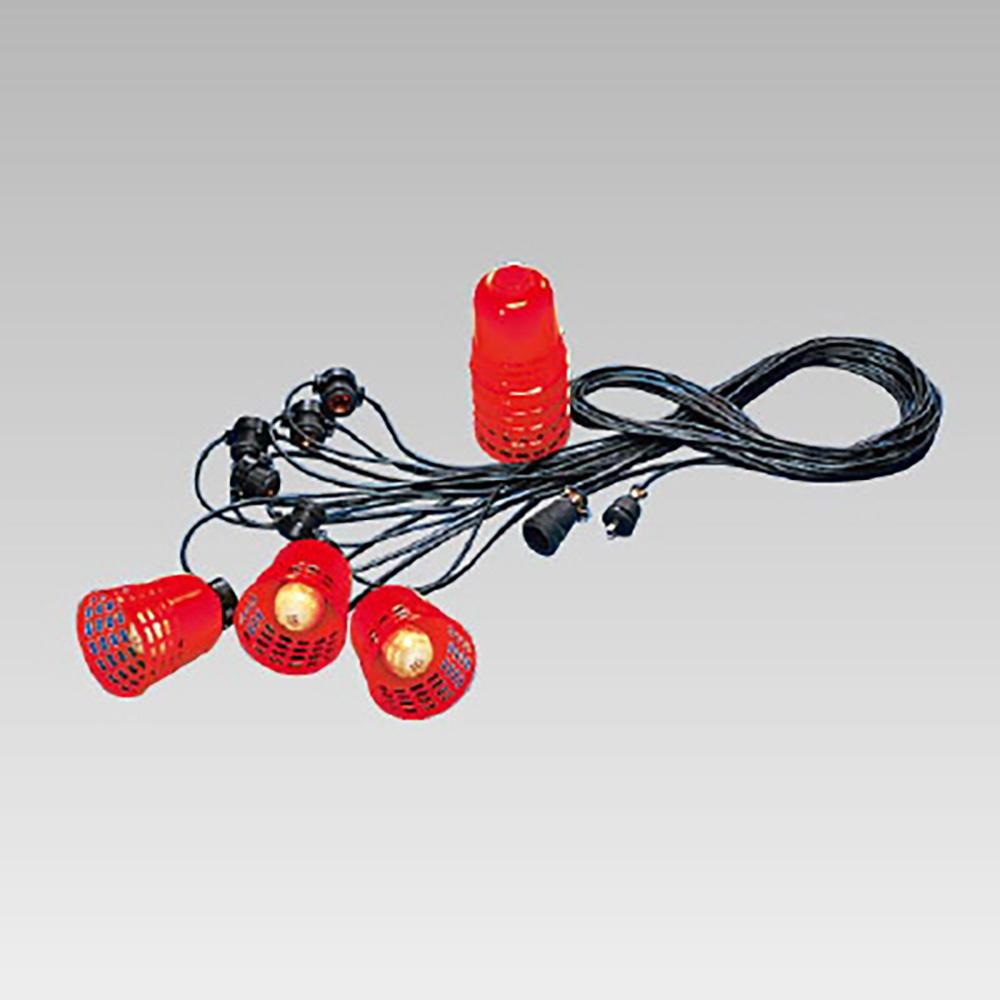 ユニット(UNIT)【387-55】8連式スーパーソケット(赤)