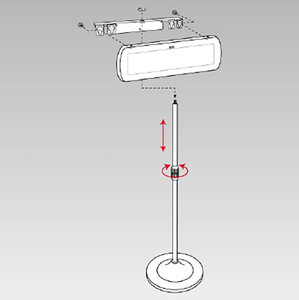 ユニット(UNIT)【881-68】LEDサイン01スタンド金具セット