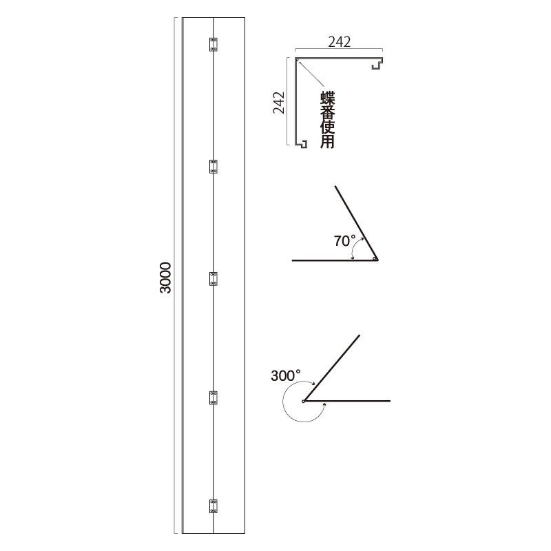 ユニット(UNIT)【957-132】◎アドフラットコーナーパネルのみ3M