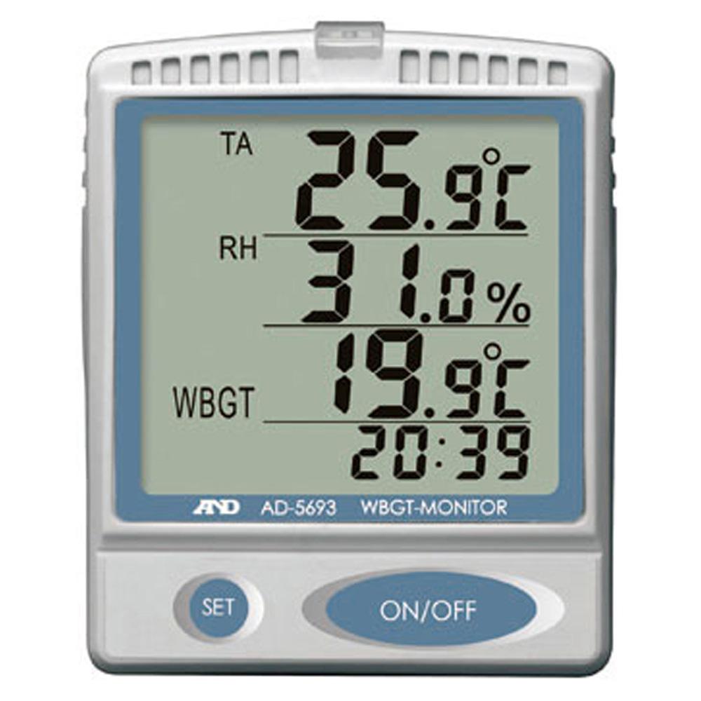 ユニット(UNIT)【HO-40】熱中症指数モニター 室内用※WBGT対応品