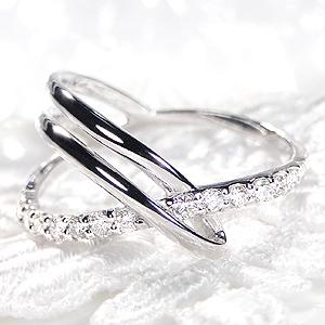 Pt900 ダイヤモンド クロス リング【送料無料】クロス ダイヤモンド おすすめ ジュエリー 指輪 可愛い プラチナ リング ダイヤモンドリング 人気 おしゃれ シンプル 品質保証書 新作 プレゼント インデックス 代引手数料無料 ラッピング無料