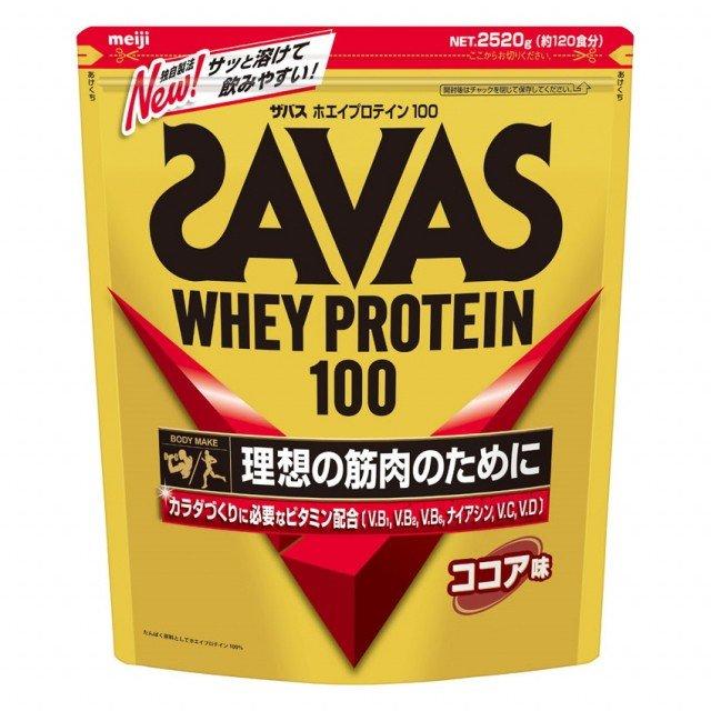new明治 SAVAS(ザバス) ホエイプロテイン100 ココア味 2,520g(約120食分)