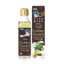 *2部日本制粉黄金的亚麻子亚麻仁油186g