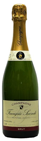 【フランソワ・スコンデ】グラン・クリュ・シルリー・ブリュット[NV](スパークリングワイン)正規品 750ml シャンパーニュ FRANCOIS SECONDE GRAND CRU A SILLERY BRUT