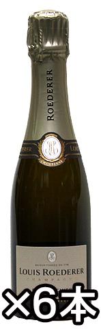 【ルイ・ロデレール】ブリュット・プルミエ・6本セット[NV](スパークリングワイン)[送料無料][正規品][375ml×6本][ハーフボトル][フランス][シャンパーニュ][シャンパン][辛口]
