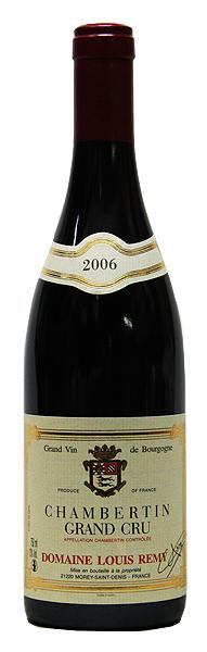 【ルイ・レミー】シャンベルタン[2006](赤ワイン)[750ml][フランス][ブルゴーニュ][ジュヴレ・シャンベルタン][特級畑][ミディアムフル][辛口]