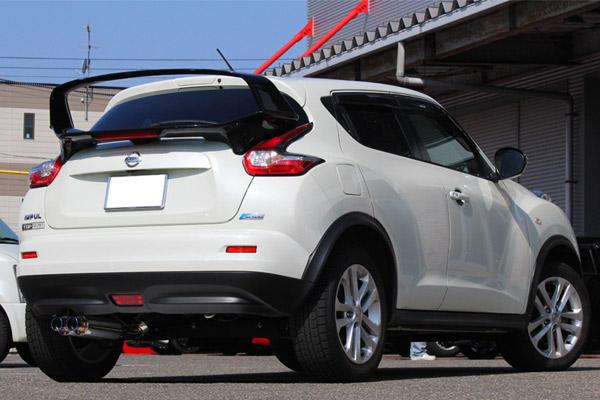 GP SPORTS (ジーピースポーツ) EXAS EVO Tune マフラージューク 16GT CBA-F15 MR16DDT 10/11~14/7 6速MTモード付CVT車用※前期型(2010/11~2014/7)の〔FF車〕専用4WD車及び後期型車両には適合しておりません。