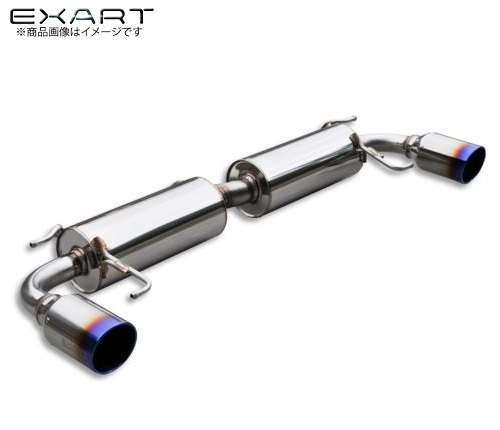 BMEFS EXART【エクスアート】 ONE マフラーアクセラスポーツ DBA-BMEFS(AT車/MT車ともに適合) PE-VPR 2000cc【チタンテールモデル】