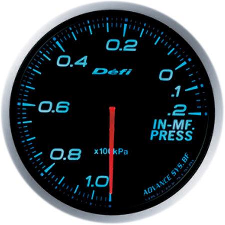 デフィ Defi 日時指定 インマニプレス計 世界の人気ブランド アドバンスBFメーター60φブルーモデル