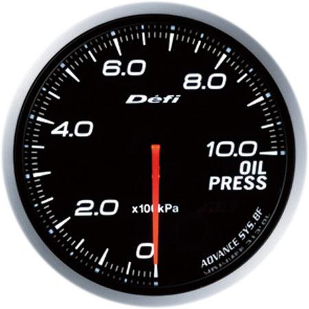 デフィ(Defi) アドバンスBFメーター60φホワイトモデル 油圧計