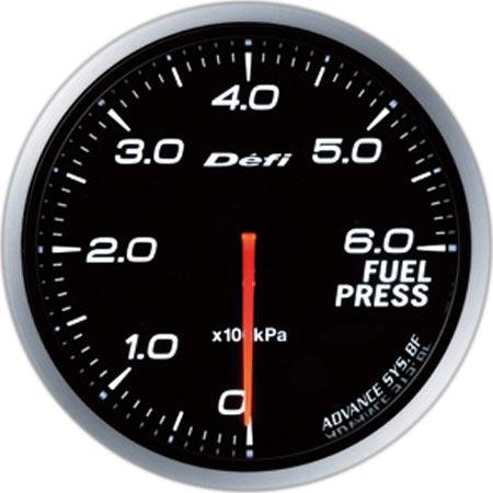 デフィ(Defi) アドバンスBFメーター60φホワイトモデル 燃圧計