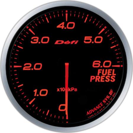デフィ(Defi) アドバンスBFメーター60φアンバーレッドモデル 燃圧計