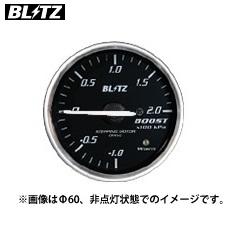 BLITZ 【ブリッツ】 レーシングメーター SDφ52 BOOST (ブースト計) レッドイルミネーション-1.0~2.0単位×100kpa (電気式)