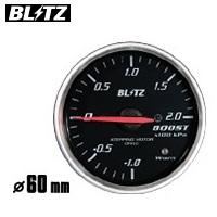BLITZ 【ブリッツ】 レーシングメーター SDφ60 BOOST (ブースト計) ホワイトイルミネーション-1.0~2.0単位×100kpa (電気式)