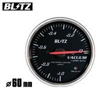 BLITZ 【ブリッツ】 レーシングメーター SDφ60 VACUUM (バキューム計) ホワイトイルミネーション-1.0~0単位×100kpa (電気式)