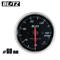 BLITZ 【ブリッツ】 レーシングメーター SDφ60 TEMP (温度計) ホワイトイルミネーション50~150単位℃ (電気式) センサーサイズ1/8PT
