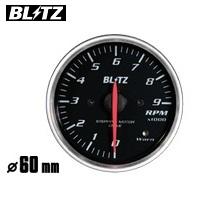 BLITZ 【ブリッツ】 レーシングメーター SDφ60 TACHO (エンジン回転数計) ホワイトイルミネーション0~9単位×1000rpm (電気式)