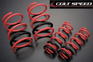 COLT SPEED 【コルトスピード】 ローダウン・スプリングギャランフォルティス セダンRA CY4A 07.8~F:-40mm(2.64~4.2kgf/mm)/R:-25mm(2.45~3.8kgf/mm)