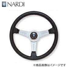 ナルディ(NARDI) クラッシックブラックレザー&シルバースポーク