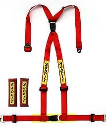 Sabelt サベルト シートベルト CLUBMAN-75 4x4 2インチ リアバックル付※ショルダーパット付属