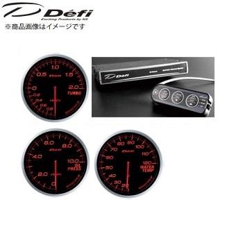 デフィ Defi アドバンスBF φ60メーター [アンバーレッド]ターボ計(200kPaモデル)&アドバンスコントロールユニット+油圧計+水温計 SET