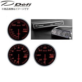 デフィ Defi アドバンスBF φ60メーター [アンバーレッド]ターボ計(200kPaモデル)&アドバンスコントロールユニット+排気温計+燃圧計 SET