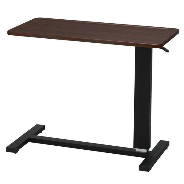 ●永井興産 ガス圧昇降テーブル ブラウン NK-518 ローテーブル 高さ調節 昇降テーブル 伸縮式 ガス圧