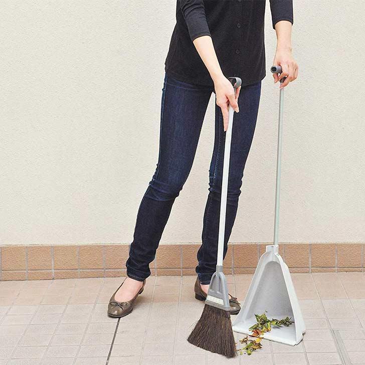 清掃用品 アズマ工業 BR602 チリトーレ L グレー ほうき ちりとり セット 掃除用具 掃き掃除[ 5400円以上  ]