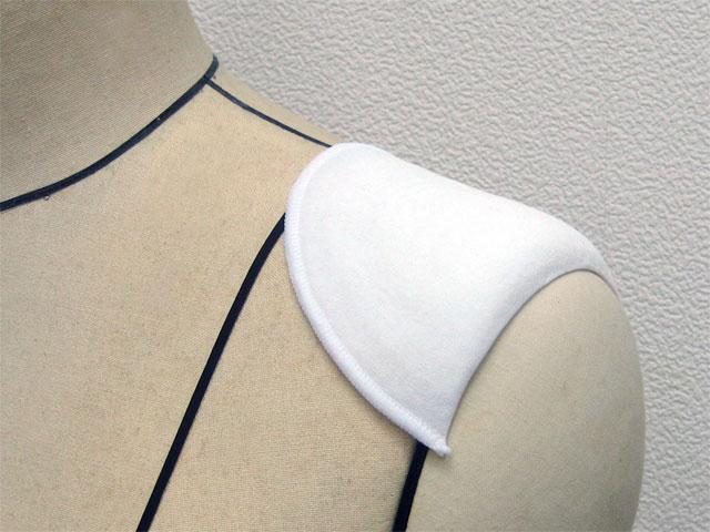 包み肩パット KR-38-KW 当店一番人気 8mm厚 白 小型 記念日 1組単位 8組までメール便OK