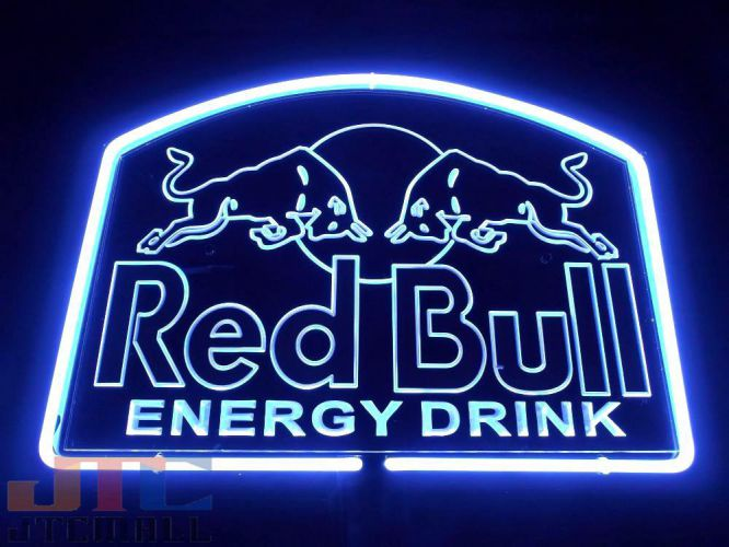 K2acgb Red Bull Red Bull Oversized 3d Neon Signs Interior